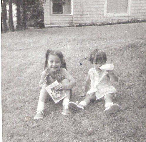 Daughters Lynn & Sarah around 1966, not sure of location.