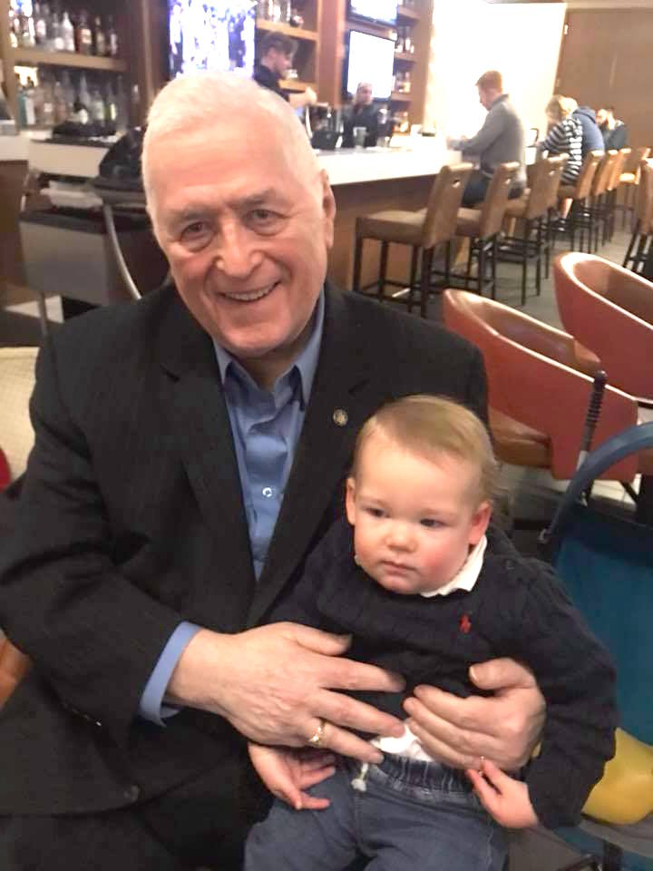 Great Grandson Liam with Great Granddad Jim